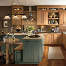 Casual cabinets from Kemper Cabinetry