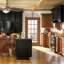 Rustic cabinets from Kemper Cabinetry