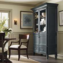 Butler dining room cabinet in Maritime blue color