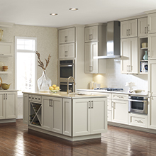 Amstead off white kitchen cabinets