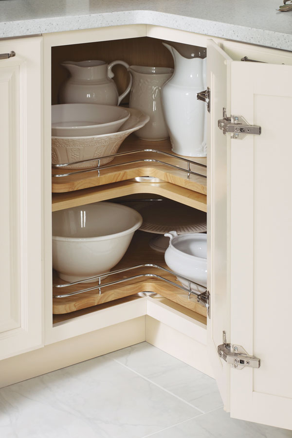 Base Lazy Susan Cabinet With Chrome Rails