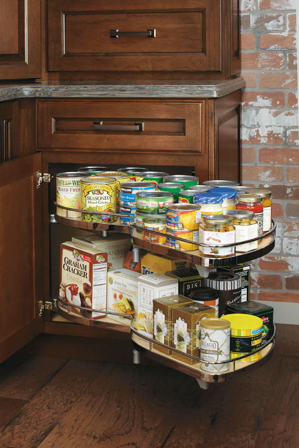 Base Corner Cabinet With Curved Pullout