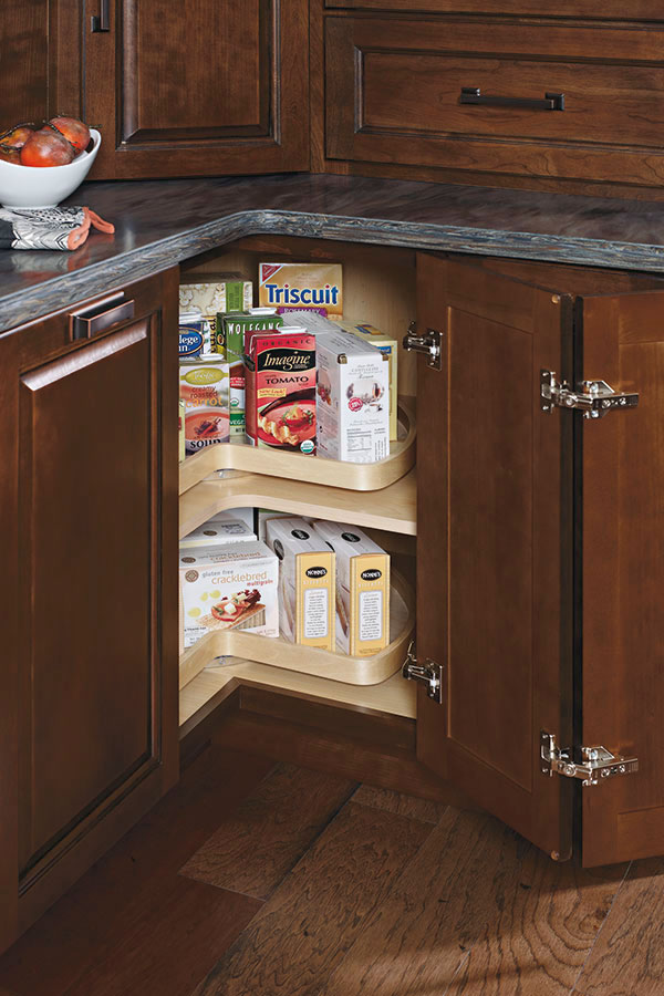 Base Super Lazy Susan Cabinet Kemper Cabinetry