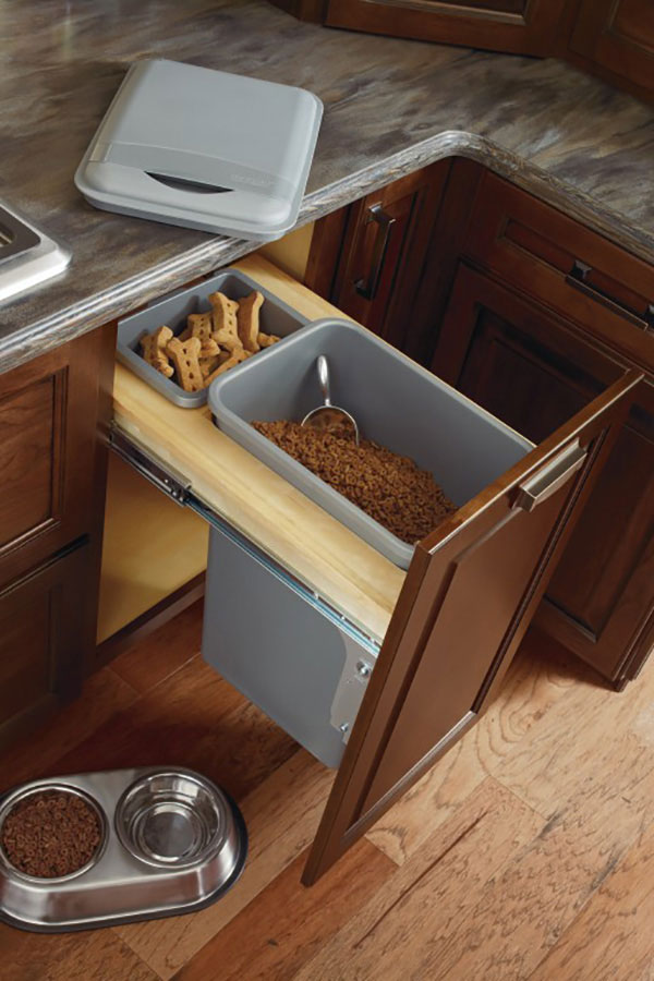 Base Wastebasket Cabinet Full Height With Lid