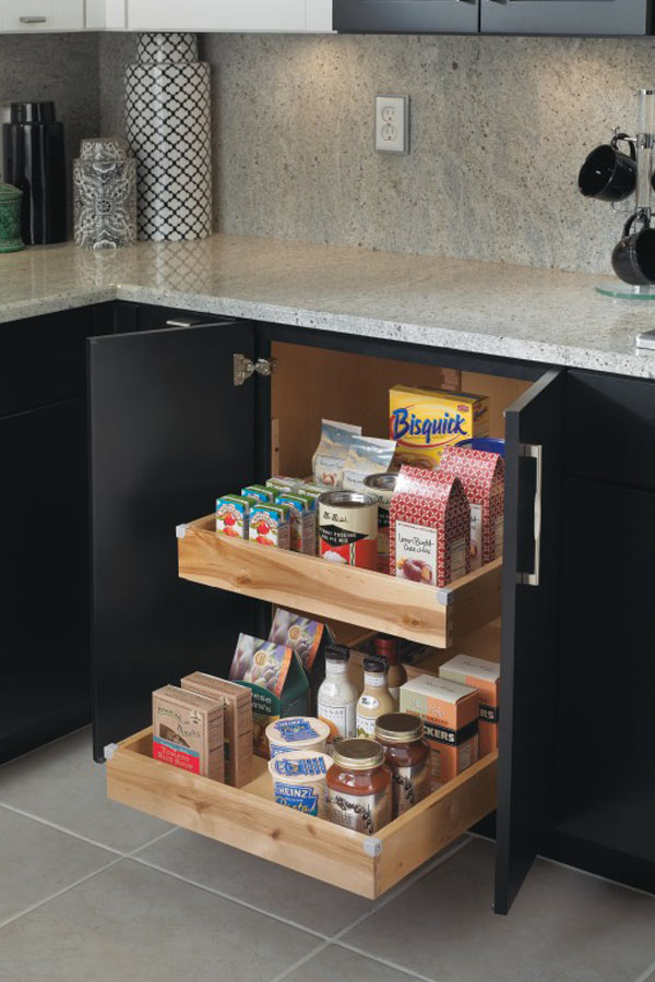Superior Base Cabinet With Roll Trays
