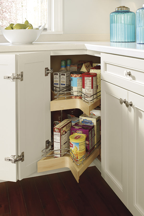 Lazy susan cabinet with pull out