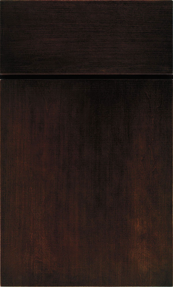 Chocolate Cabinet Finish On Maple Kemper Cabinetry