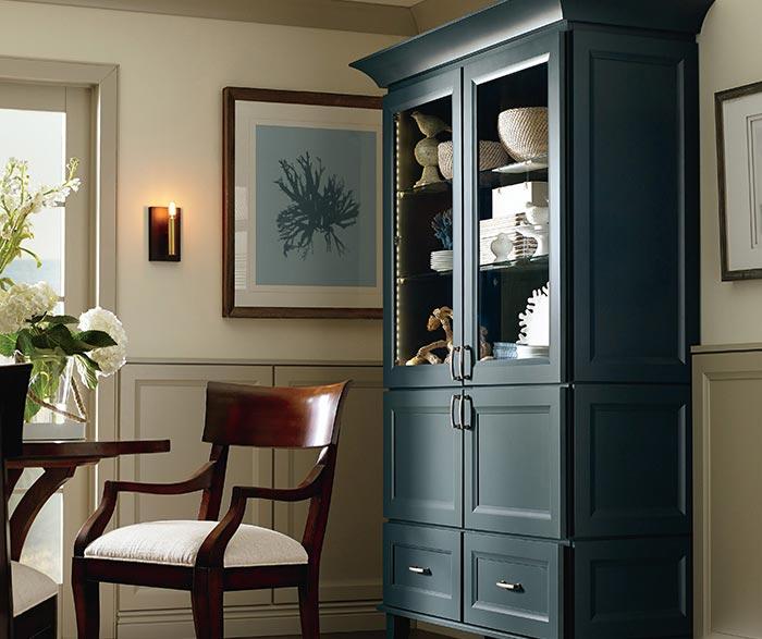 Butler dining room storage cabinet in Maple Maritime finish ... & Butler Flat Panel Cabinet Door - Kemper Cabinets