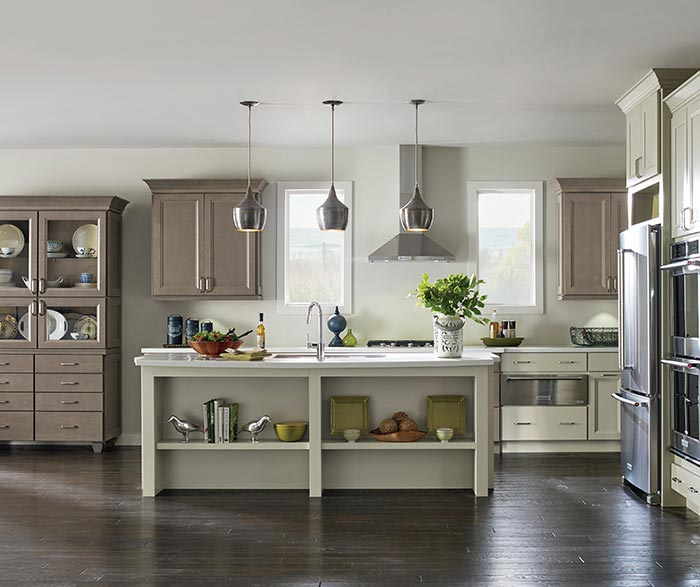 ... Butler Maple Kitchen Cabinets In Seal And Egret Finishes ...