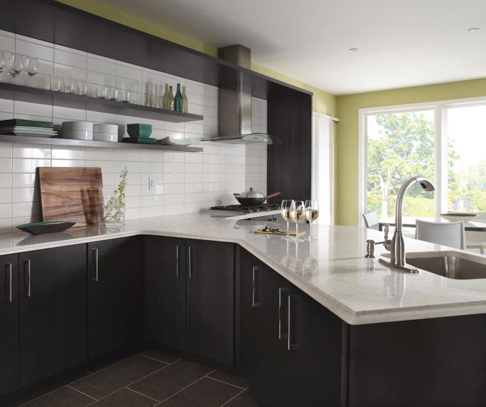 Marvelous ... Dark Gray Kitchen Cabinets By Kemper Cabinetry ...