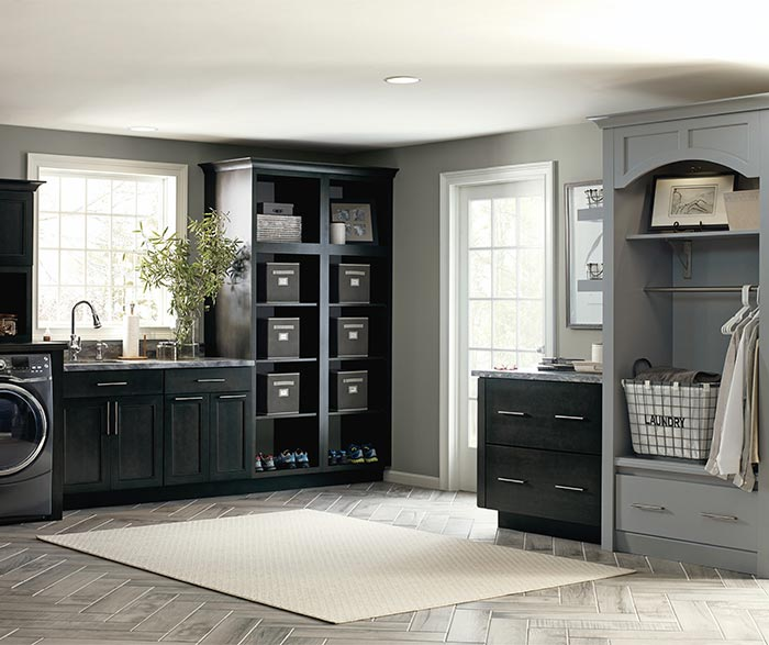 Cotter Dark Grey Laundry Cabinets In Storm Finish ...