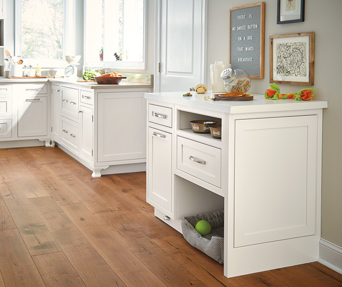 Light Kitchen with Inset Cabinet Doors