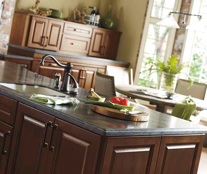 ... Dark Cherry Kitchen Cabinets By Kemper Cabinetry ...
