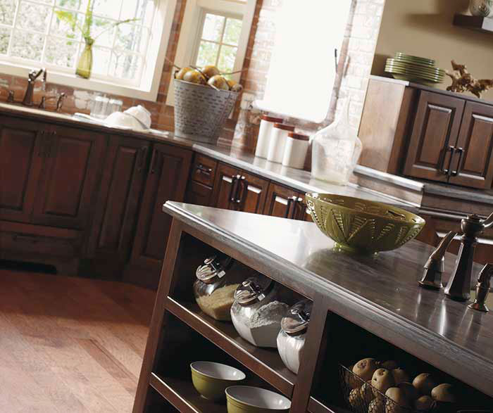 ... Dark Cherry Kitchen Cabinets By Kemper Cabinetry