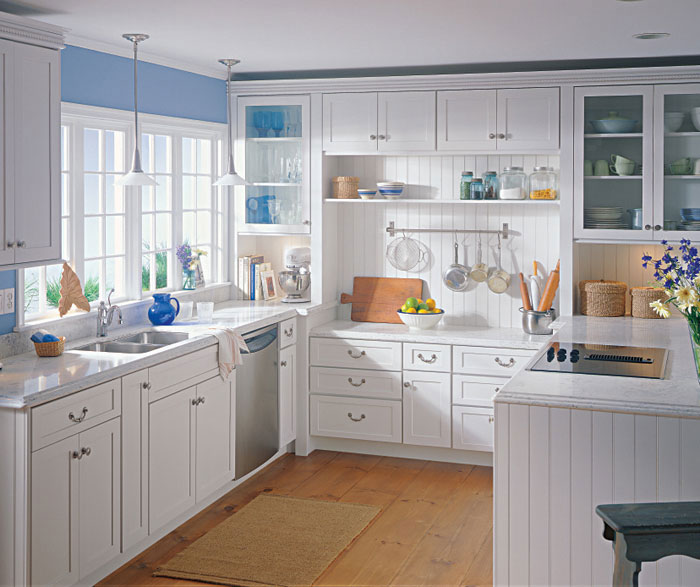 Captivating White Shaker Style Kitchen Cabinets By Kemper Cabinetry