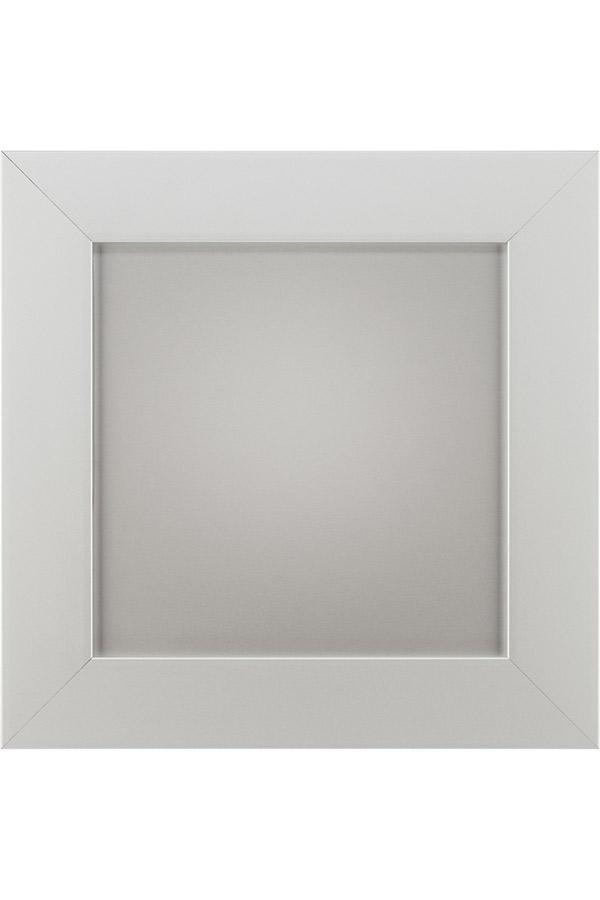 Aluminum Frame Cabinet Door   Aluminum Finish With Matching Panel