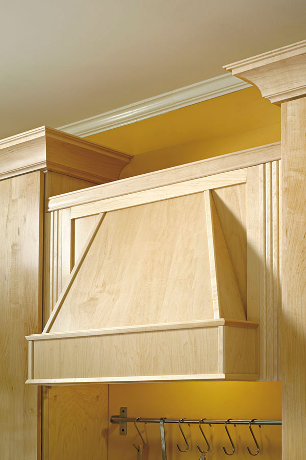 Tapered Wood Hood - Kemper Cabinetry