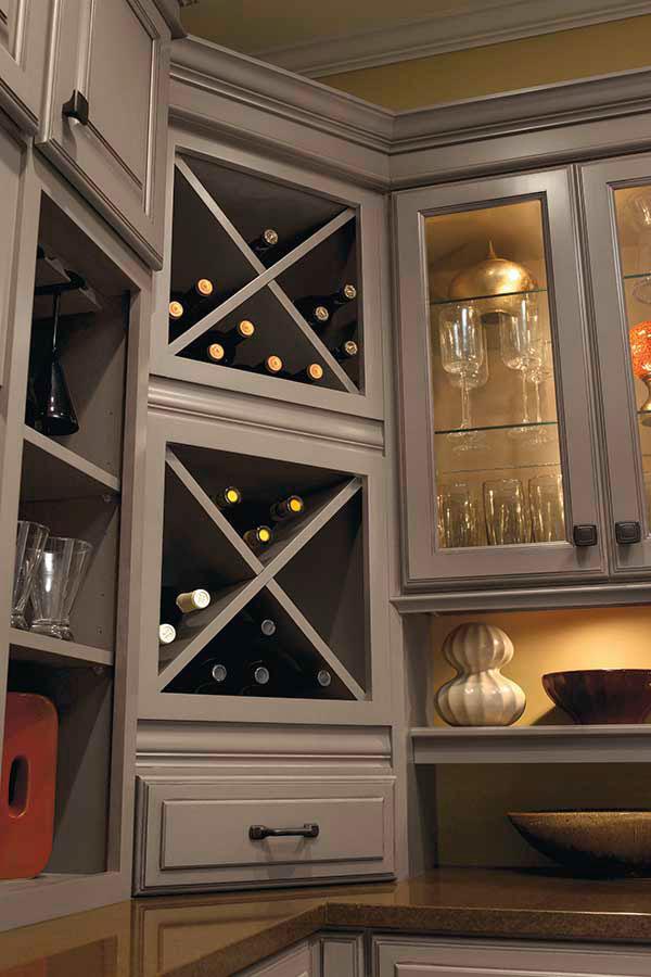 Wine Storage Cabinet - Kemper Cabinetry
