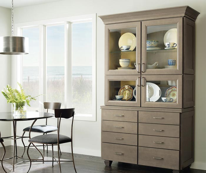 Butler dining room cabinet in Maple Seal finish